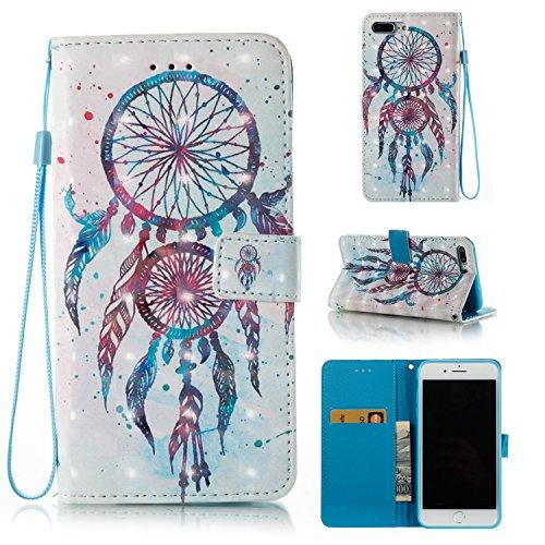 iPhone 7 Plus Wallet Case,HAOTP 3D