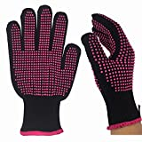 HeyBeauty 1 Pc Heat Resistant Glove, Professional Skidproof Glove for Curling Wand and Flat Iron, Suitable for Left and Right Hands, Fit All Hand Sizes