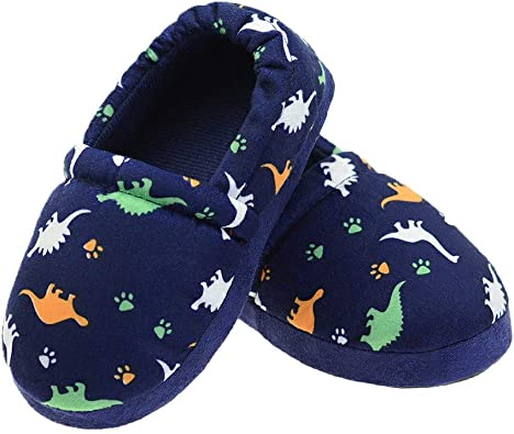 LA PLAGE Childs Popular Cute Soft Cotton Slippers with Beautiful Star Size 3 US Little Kid Blue Star