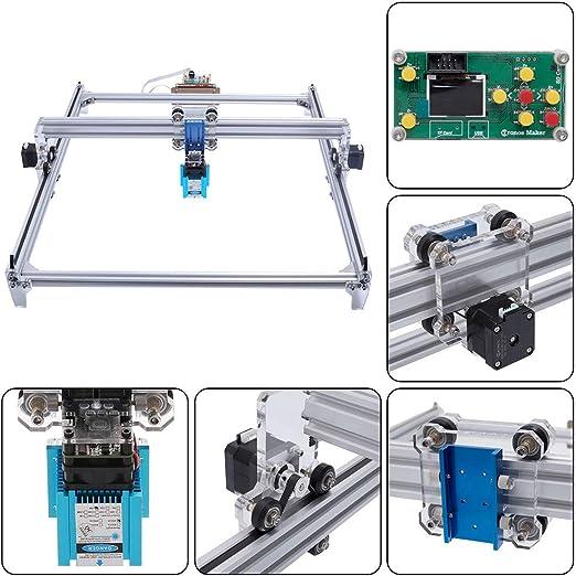 TOPQSC DIY Kits de grabador láser CNC 12V USB Máquina de grabado láser de escritorio, superficie de grabado 500X400mm, impresora láser de potencia ajustable,talla y corte madera: Amazon.es: Bricolaje y herramientas