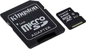 Professional Kingston 64GB for Lenovo Vibe X3 MicroSDXC Card Custom Verified by SanFlash. (80MBs Works with Kingston)