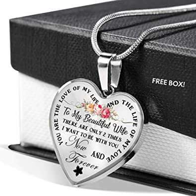 Amazon Com Gift Ideas For Love Boyfriend Girlfriend Heart Pedant Necklaces For Your Girlfriend You Are The Life Of My Love Sentimental Birthday Gift For Your Woman On Christmas