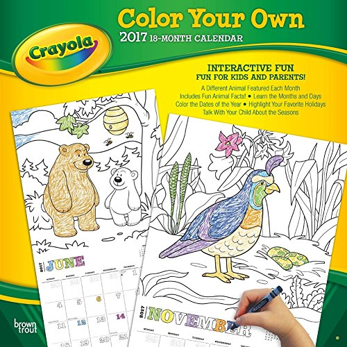 2017 Crayola Color Your Own Calendar