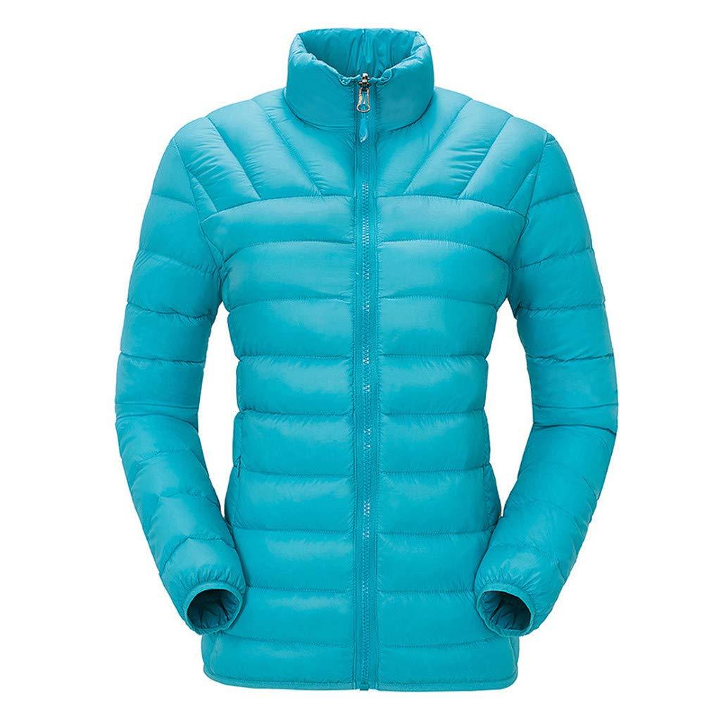 Fashionhe Women Down Jacket Outdoor Winter Warm Outwear Casual Down Coat Windproof Overcoat(Blue.3XL) by Fashionhe