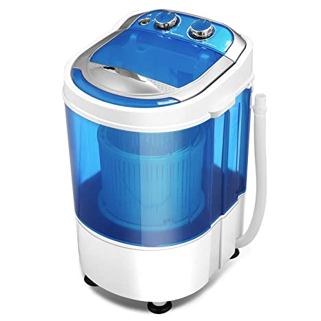 KUPPET Mini Portable Washing Machine for Compact Laundry, 7lbs Capacity,  Small Semi-Automatic Compact Washer with Timer Control Single Translucent  ...