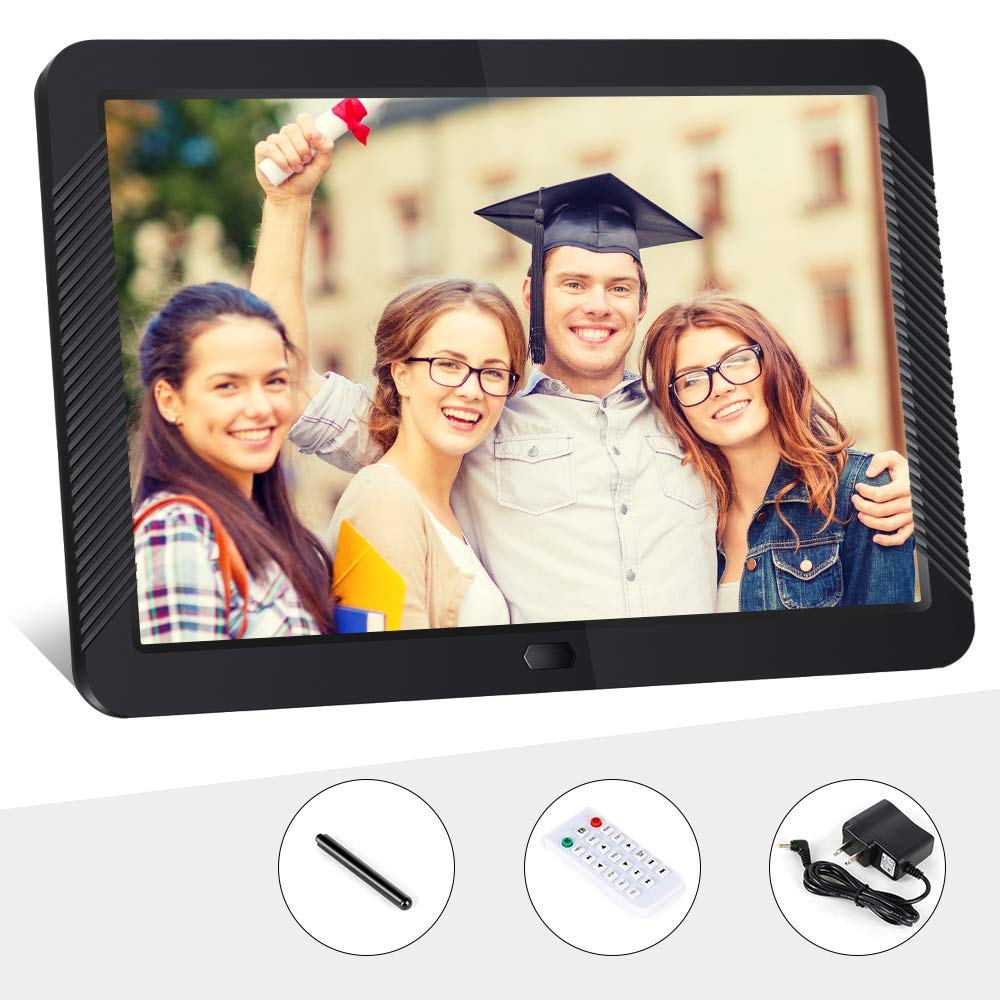 Digital Picture Frame 8 Inch Digital Photo Frame HD 1920X1080P with Remote Control 16:9 IPS Display Electronic Auto Slideshow Zoom Image Stereo Video Music Player Support USB SD Card 180° View Angle by Pofeite (Image #7)