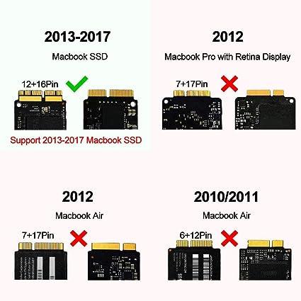 LWS - Adaptador de tarjeta PCIe a SSD para MacBook Air Pro Retina ...