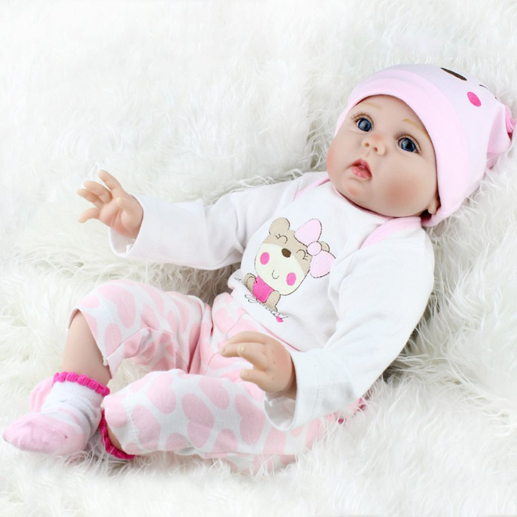 Valcano Wiedergeborenes Neugeborenes Baby Baby Baby Realike Puppe Handgemachtes Lebensechtes Silikon 7a95eb