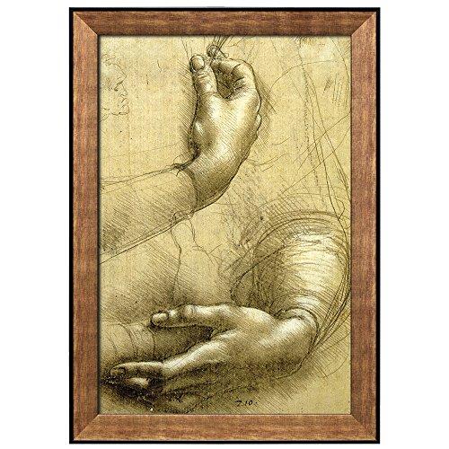 Study of Arms and Hands by Leonardo Da Vinci Framed Art