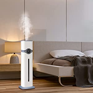Ultrasonic Humidifiers for Home, Large Room, Top Fill Humidifiers with Humidistat, Quiet Cool Mist Humidifiers of Large Capacity(9L/2.3Gal) for 36H Humidifying, 300ML/H Max Mist Output