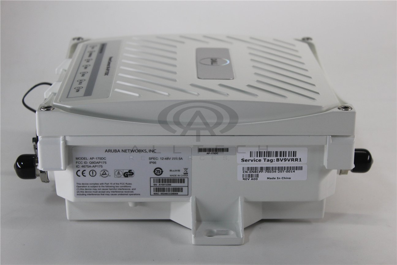 ARUBA NETWORKS, INC. Aruba Networks, Inc. Ap-175Dc Ap-175Dc Outdoor Access Point, 802.11N 2X2 Dual Radio 320Mw; Dc Powered (With Ps by Aruba Networks