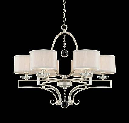 savoy house 1 250 6 307 rosendal 6 light chandelier silver sparkle