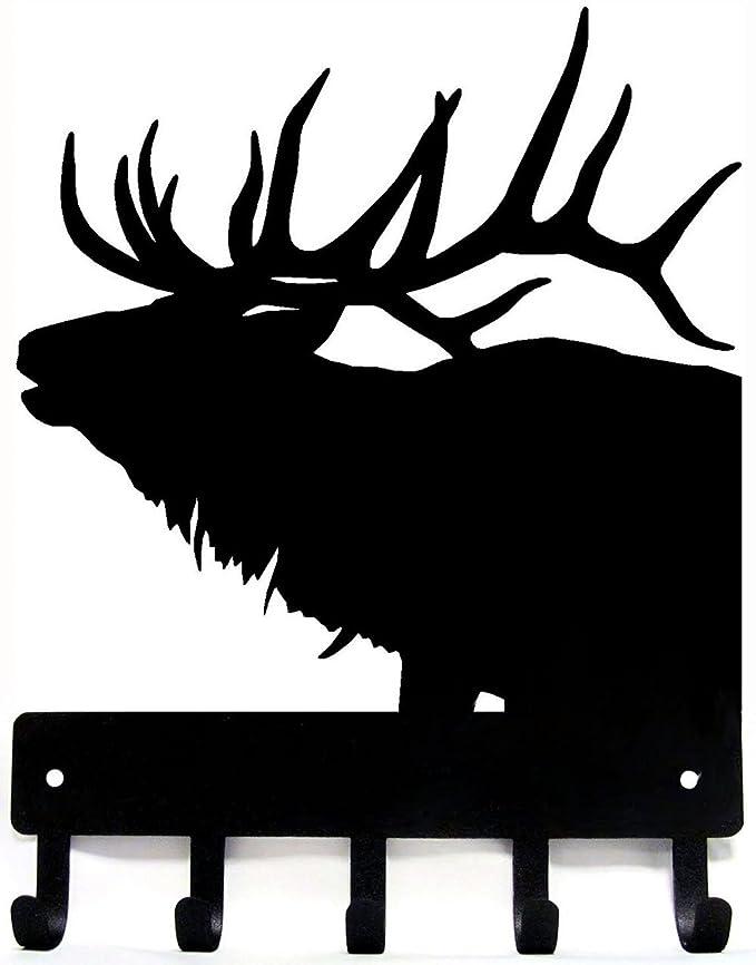 Amazon Com The Metal Peddler Elk Antlers Key Rack Hanger