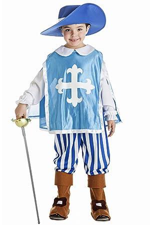 Disfraz de Mosquetero azul para niño: Amazon.es: Juguetes y juegos