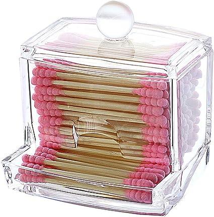 Caja de almacenamiento transparente de las esponjas de algodón de ...