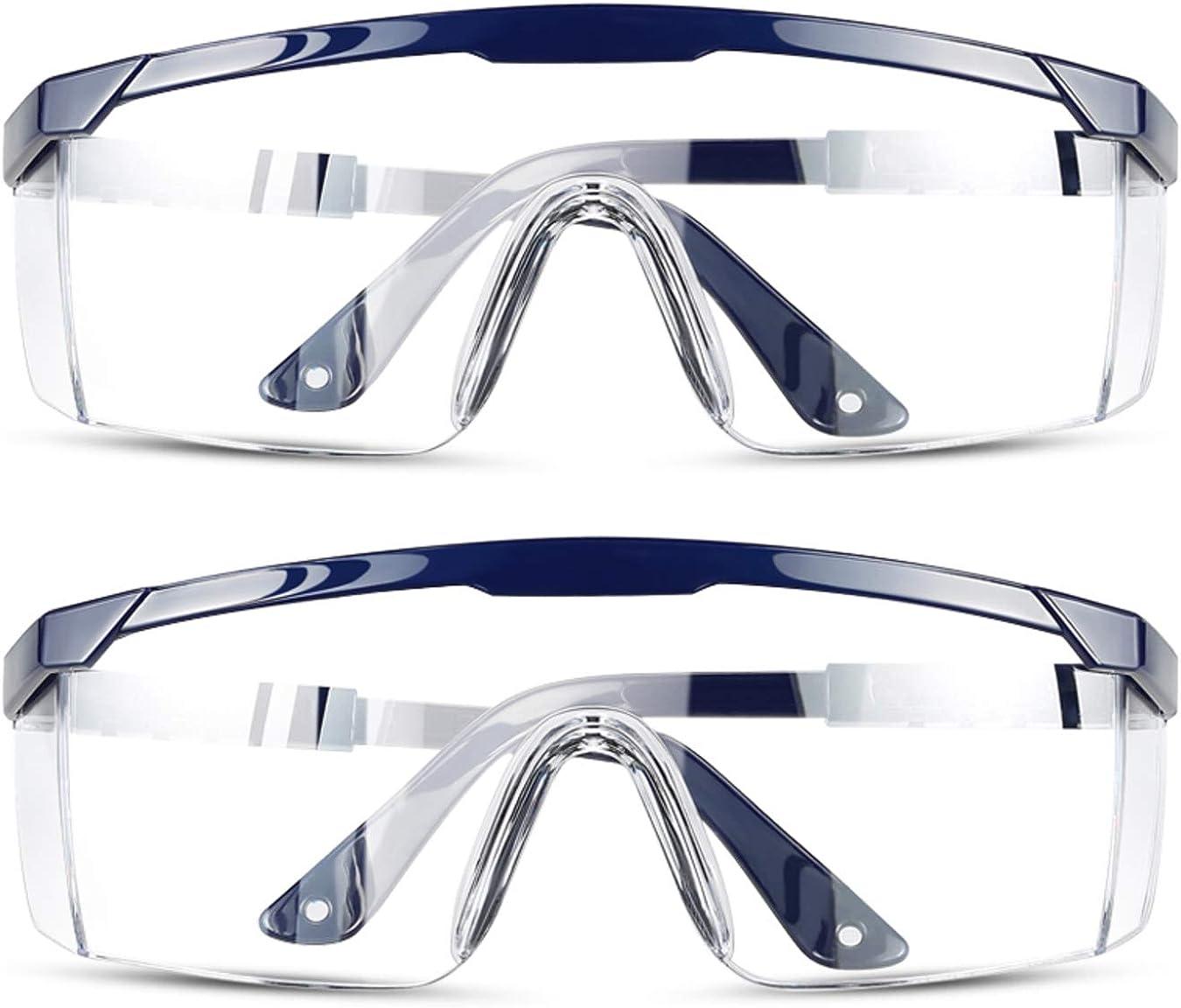 Nurses Protective Eyewear Goggles Glasses Anti Splash Anti Fog Wrap BLUE