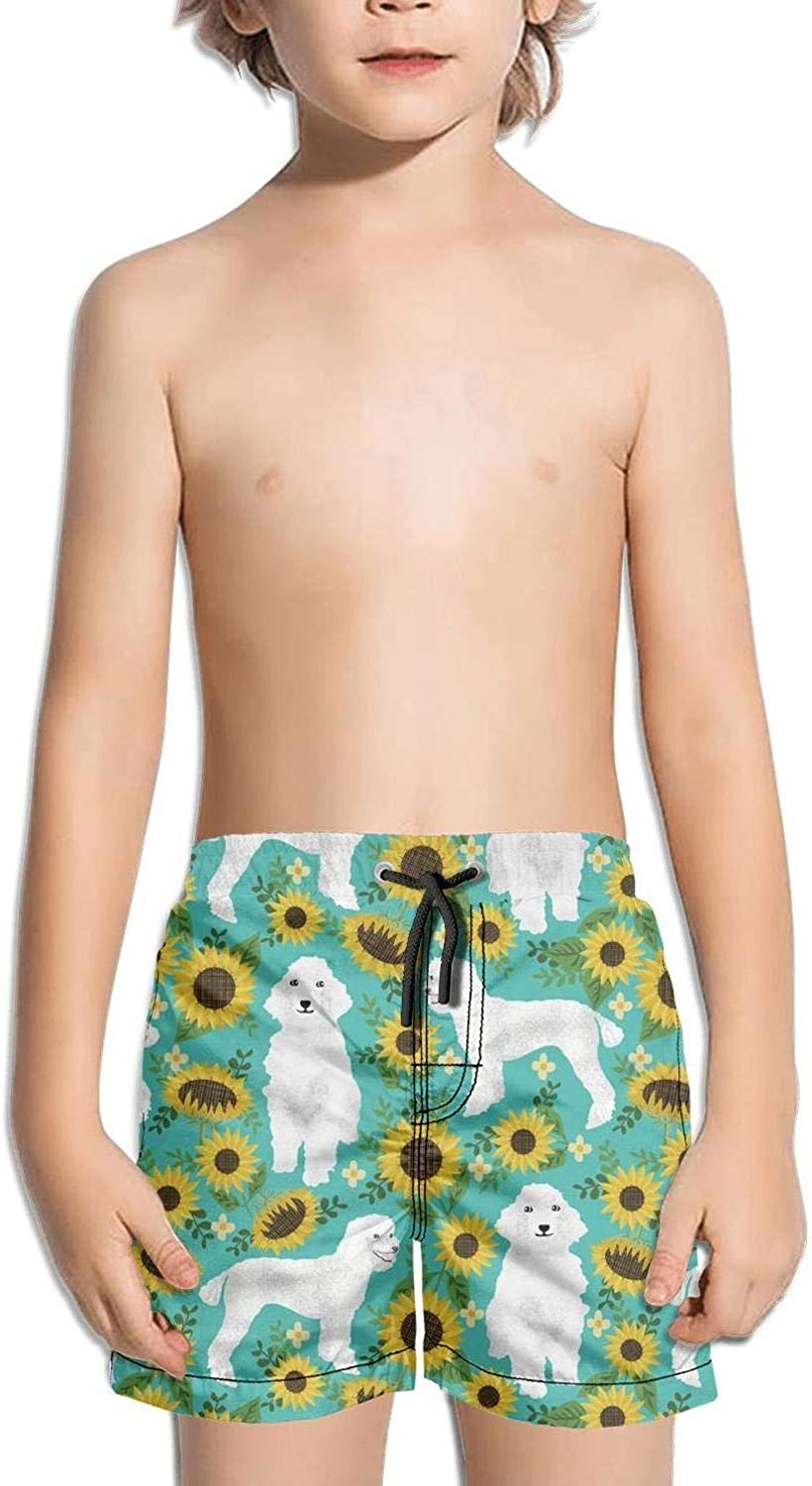 HailinED Boys Kids Blue Desert camo Quick Dry Beach Swim Trunk Fully Lined Swimsuit Beach Shorts with Pocket
