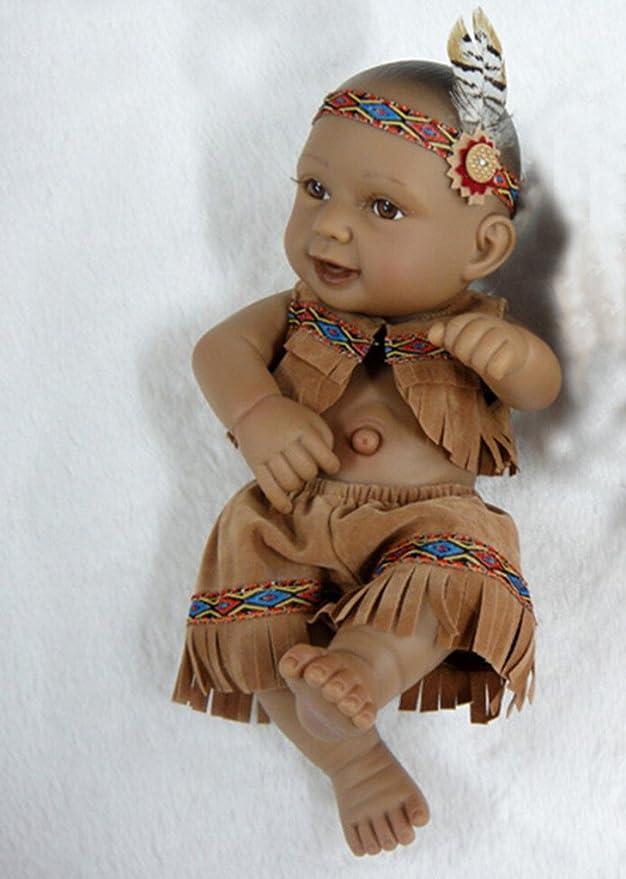 Amazon Com Terabithia Mini 11 Alive Newborn Baby Dolls Collectible Native American Indian Boy Toys Games