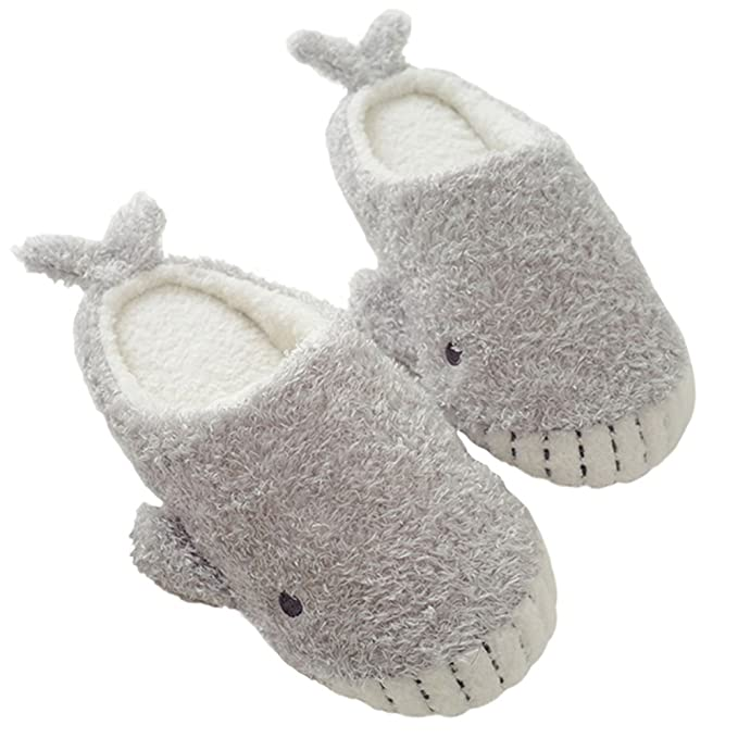 amazon com chicpro ladies fuzzy cute house whale slippers warm