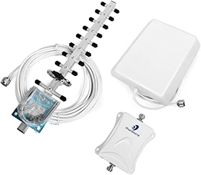 Repetidor de Señal Amplificador de Señal 4G LTE 2600MHz Cell Phone Signal Booster con Panel y Yagi Antena Kit para Casa/Ufficio Uso Para 4G LTE ...
