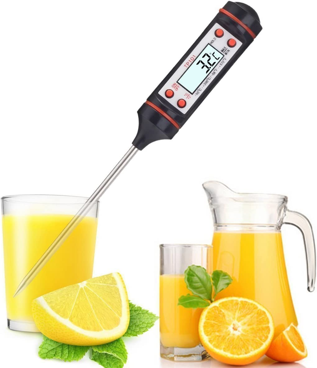 Digital Cooking Thermometer by Sterling Knights Best Wireless Electronic Food Thermometer Probe For Meat,Candy,BBQ and Grill