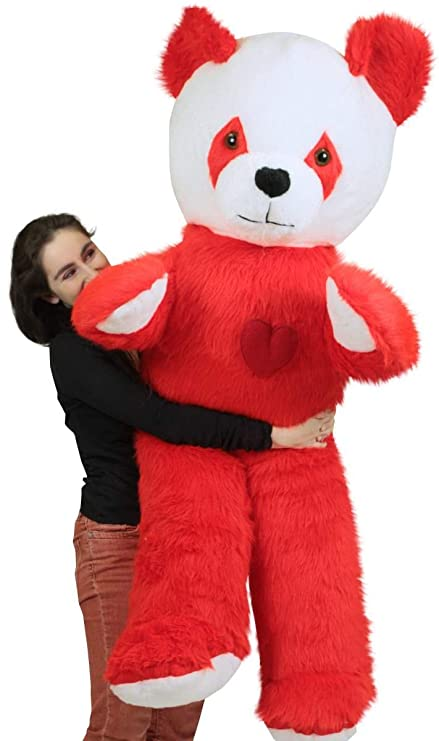 Amazon Com 6 Foot Giant Stuffed Red Panda With Heart On Chest To
