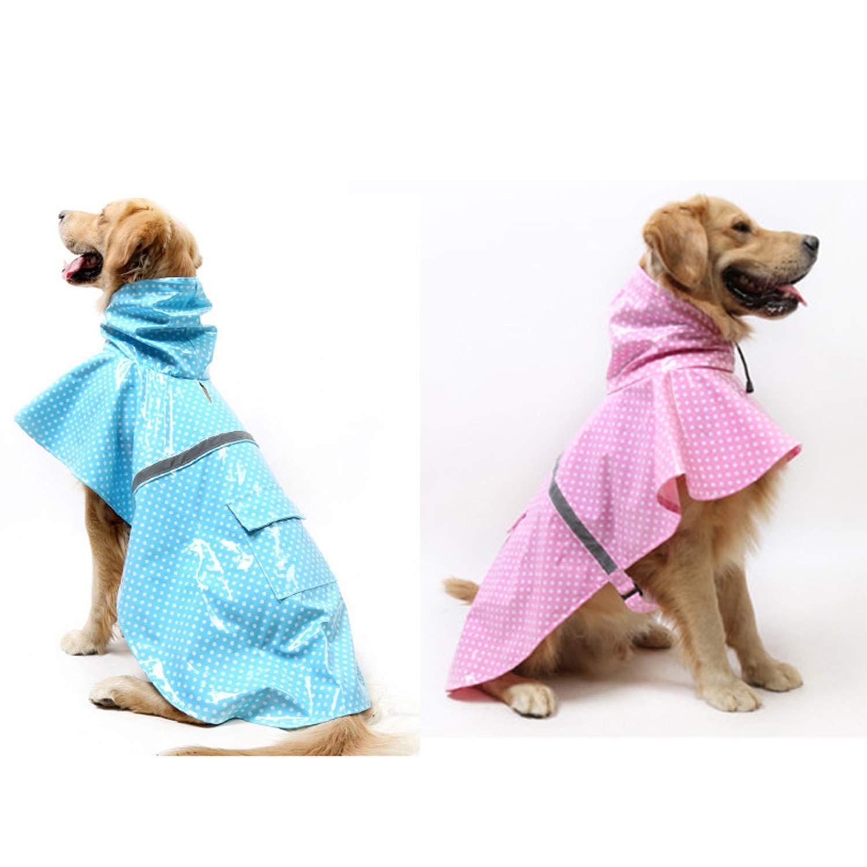 LOVEPET Pet Clothes Four Seasons Raincoat Golden Retriever Husky Labrador Large Dog Rain and Snow Paint Skin Wave Raincoat