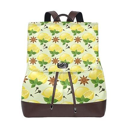 7882f5932281 Amazon.com: Fashion Shoulder Bag Rucksack PU Leather Women Girls ...