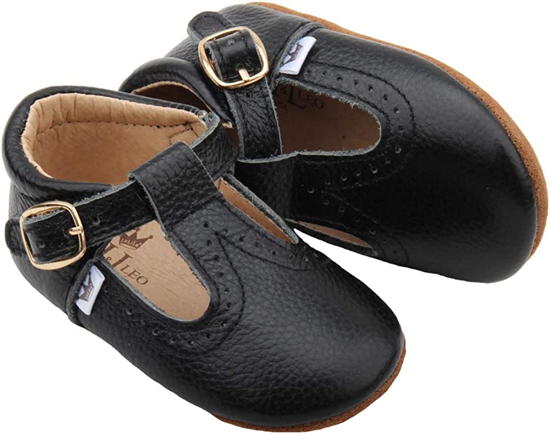 Liv /& Leo Baby Girls Mary Jane T-bar T-Strap Oxford Soft Sole Crib Shoes Leather