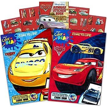 Amazon Com Disney Cars 3 Coloring Book And Stickers Super Set