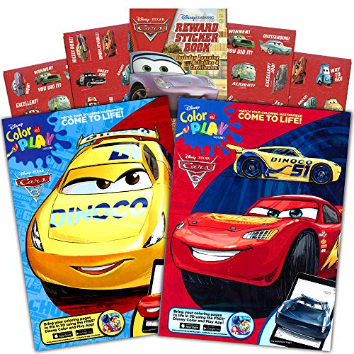 Disney Cars Coloring Book Set (2 Books Featuring Lightning McQueen - 96 Pages, Int. ()