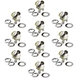 10pcs Mono Jack Socket 1/4'' Stratocaster Replacement High Quality Guitar Parts