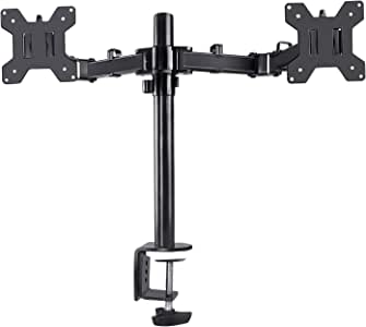 TREE.NB 360 Degree Rotation Dual LCD LED Monitor Desk Mount Stand,Heavy Duty Fully Adjustable Dual Monitor Arm Fits 2 Screens Up to 27""