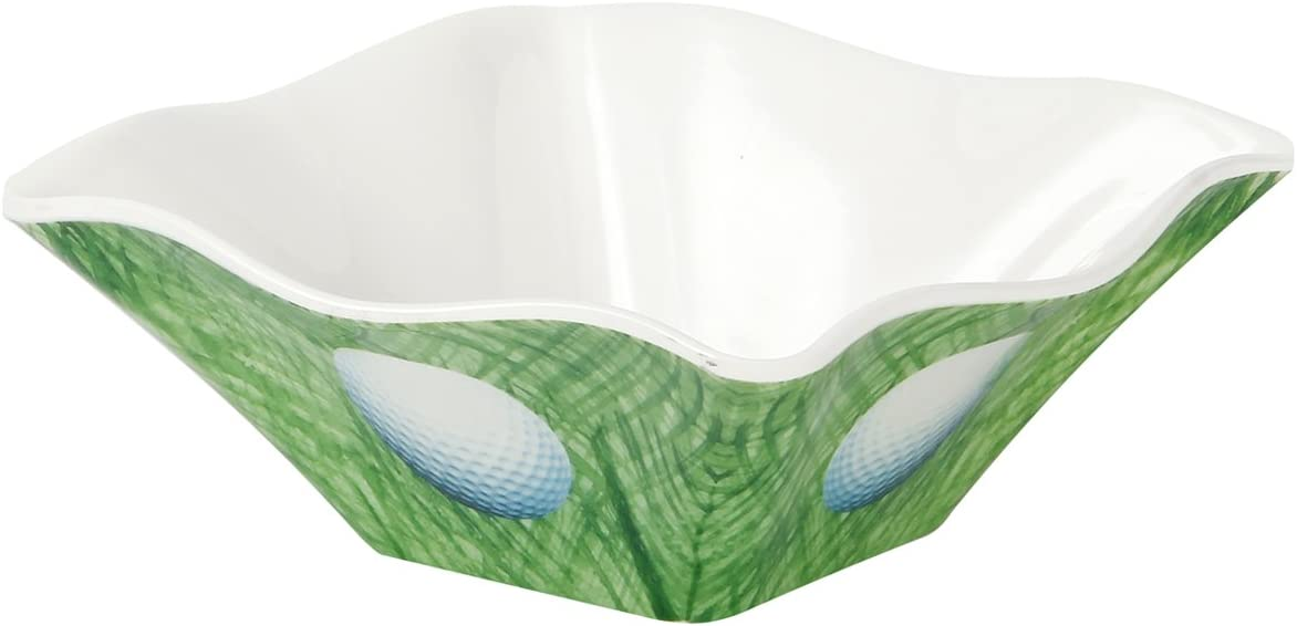 Encore Melamine SportsGolfing Platter with 4 Dip Bowls