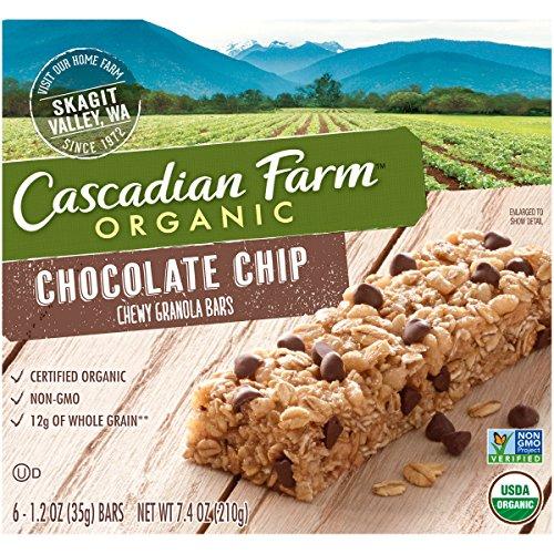Cascadian Farm, Organic Chewy Granola Bar, Chocolate Chip, 7.4 oz