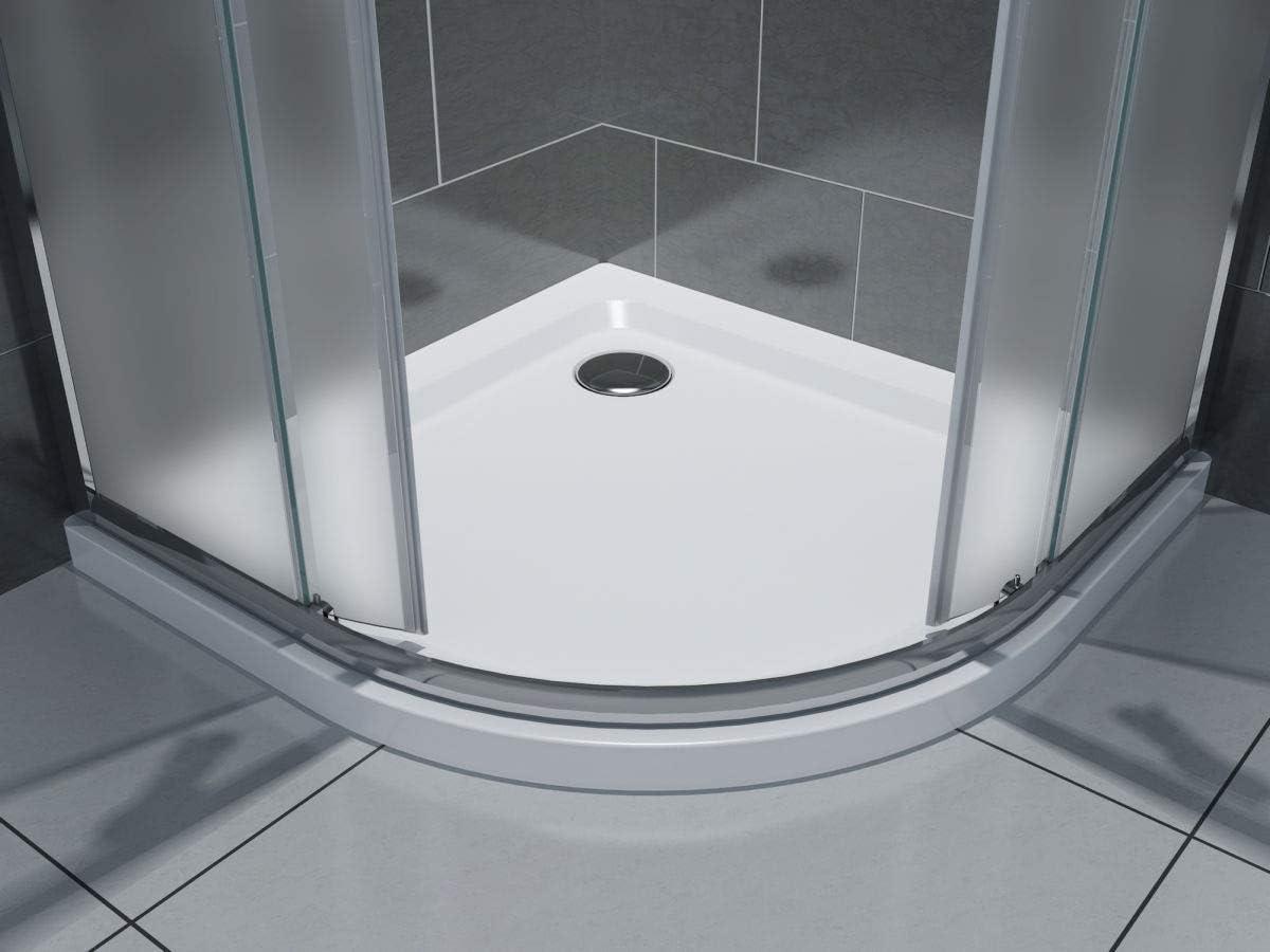 Yellowshop – Mampara de ducha angular 70 80 90 100 120 cabina de baño de cristal 6 mm rectangular cuadrado curvado serie Smart: Amazon.es: Bricolaje y herramientas