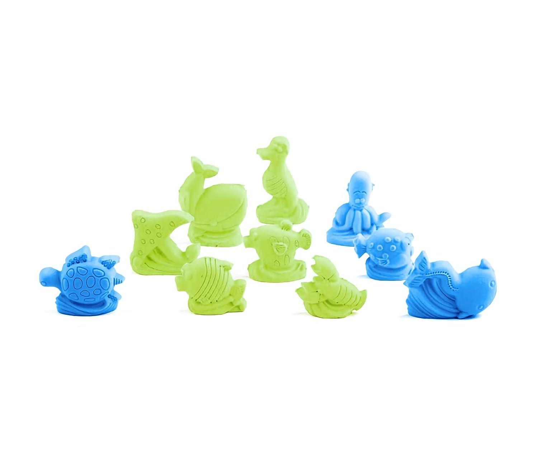 100489 Arena mágica moldeable con moldes PLAYSET MAR 300 gr - Azul-Verde claro