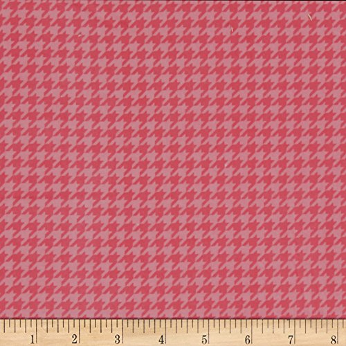 E. E. Schenck Kimberbell Little One Flannel Too! Houndstooth Pink Fabric by The Yard,