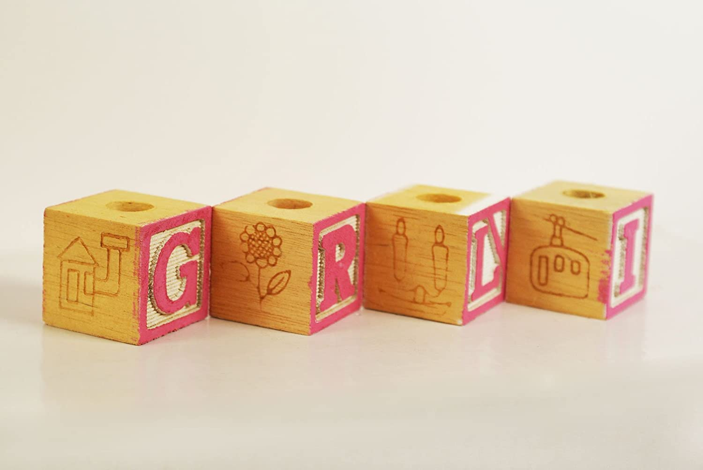 Amazon.Com: Decorative Baby Wood Blocks Baby Shower Decoration Baby
