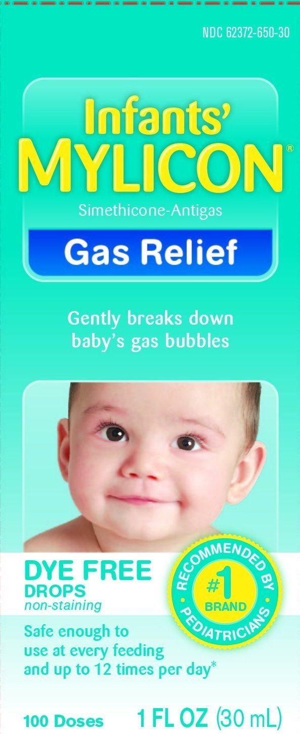 Mylicon Infant Drops Anti-gas Relief Dye Free Formula, 1.0 Fluid Ounce Per Bottle (3 Bottles) by INFIRST HEALTHCARE INC
