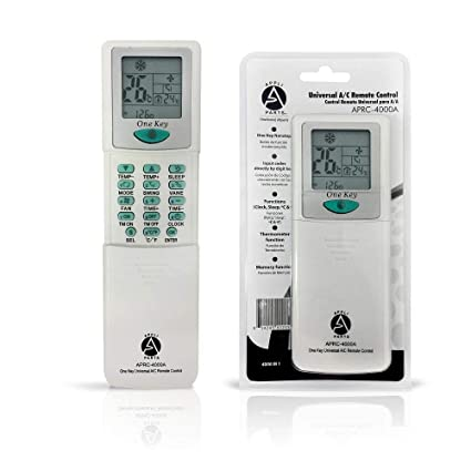 "Universal Air Conditioner Remote Control - 2"" LCD - 4000 Frequencies for Fujitsu Frigidaire Mitsubishi"