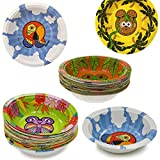 60ct Hefty Zoo Pals Rainforest Collection Animal Bowls Party Disposable Jungle