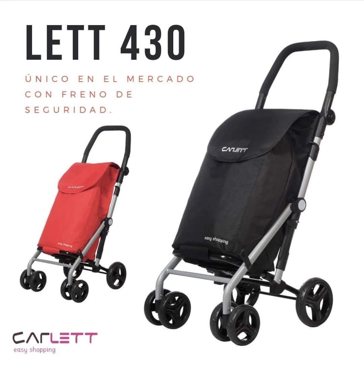 Carlett Lett 430 con Bolsa DE CONGELADOS,Nueva Coleccion 2020 Negro,