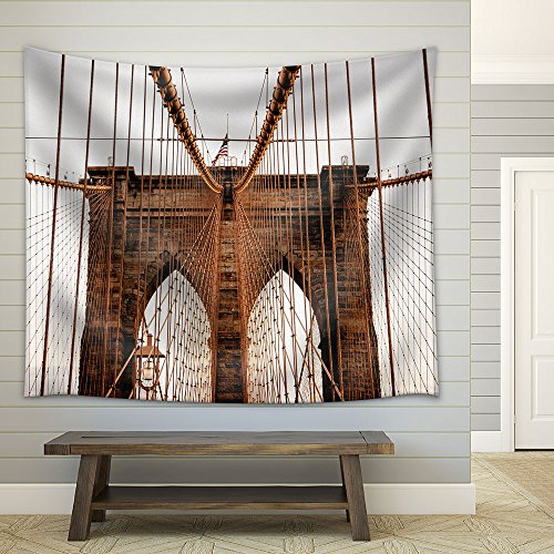 Brooklyn Bridge New York Usa Fabric Wall Tapestry