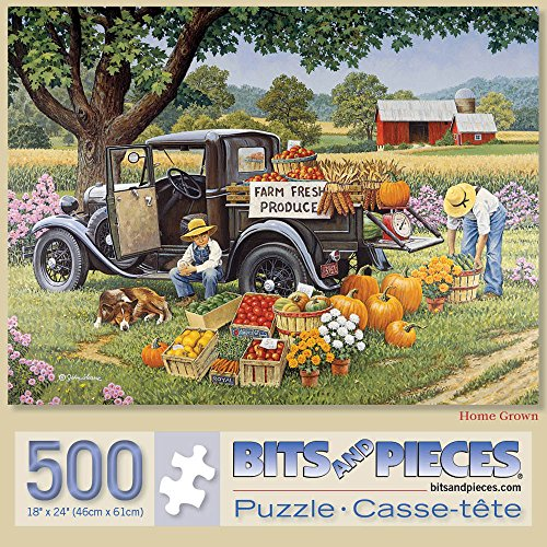 Bits and Pieces - 500 Piece Jigsaw Puzzle for Adults 18X24 - Home Grown - 500 pc Jigsaw by Artist John Sloane