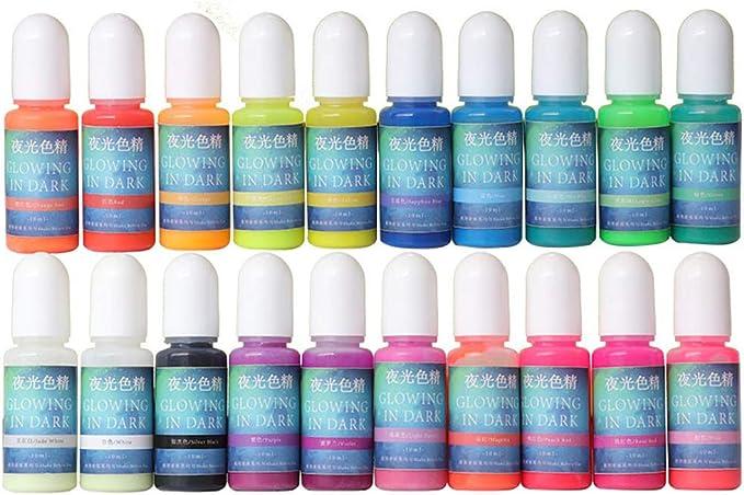 Yunnan 20 colores de pigmento de resina luminoso, polvo ...