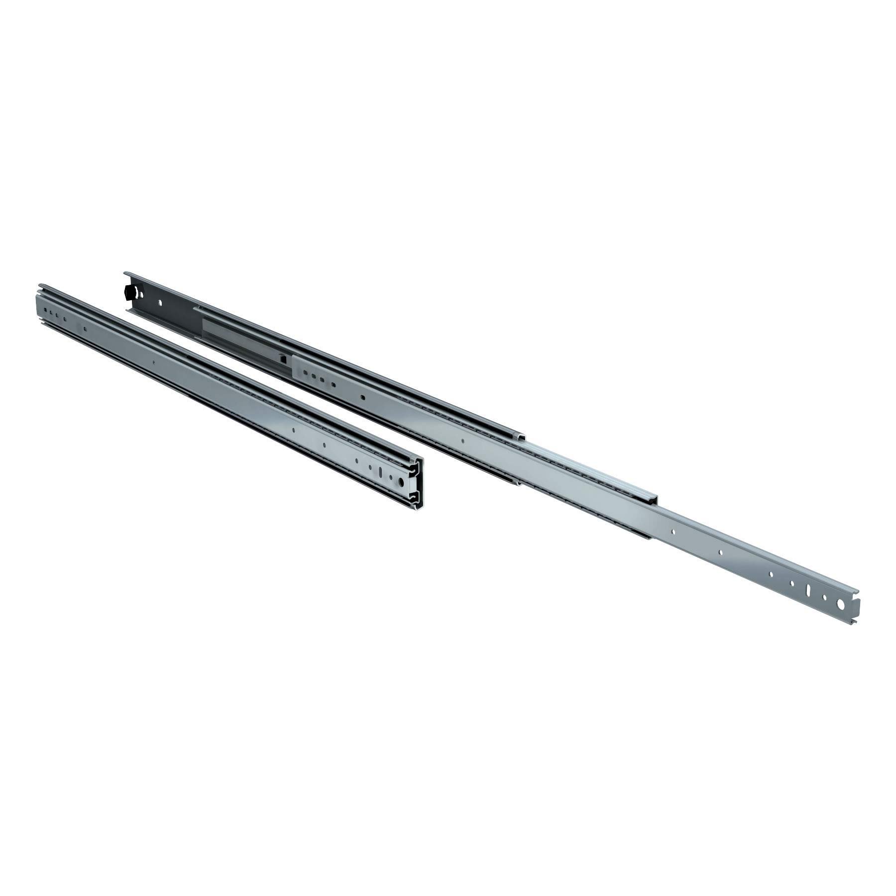 TCH Hardware 36'' Heavy Duty 250 lb Drawer Slides - 2-1/4'' x 3/4'' Wide Steel Full Extension Over Travel