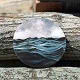 Lahome Wave Pattern Coasters - Round Drinks