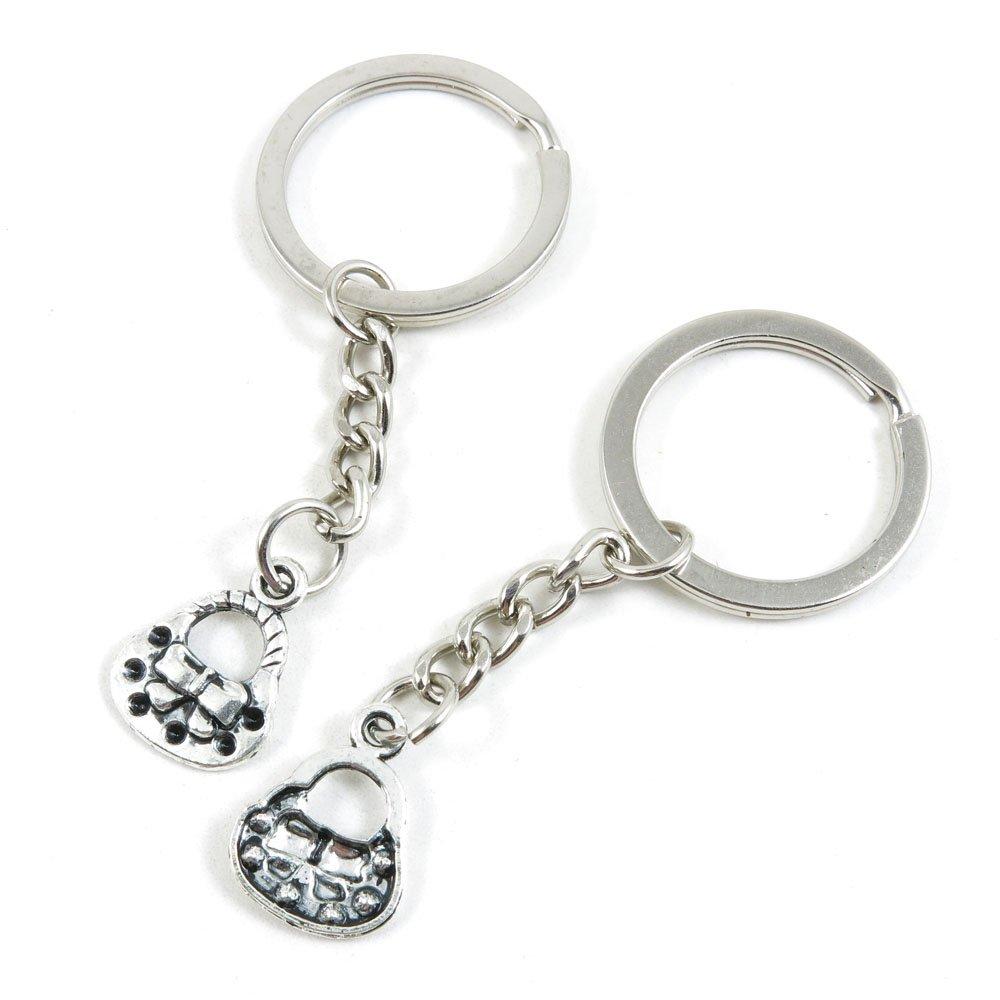 50 Pieces Keychain Keyring Door Car Key Chain Ring Tag Charms Bulk Supply Jewelry Making Clasp Findings M0BM5H Shoulder Bag Handbag Purse