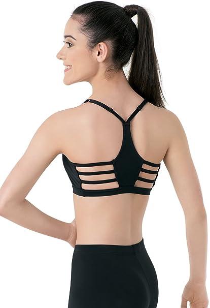 8893a19783 Amazon.com  Balera Bra Top Girls Sports Bra For Dance Womens Adjustable  Strap Racerback Bra With Strappy Back  Clothing